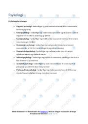 Psykologiske retninger   Noter til Psykologi   Over 40 sider