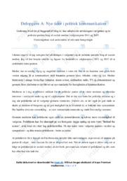 Nye tider i politisk kommunikation | Undersøgelse