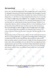 Sport und Gesundheit | Ein Leserbrief | 10 i karakter