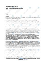 Ejner Hessel AS   Økonomisk udvikling   10 i karakter