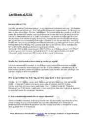 Værdikæde af JYSK | Afsætning | Noter