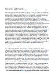 Den danske optikerbranche | Analyse | 10 i karakter