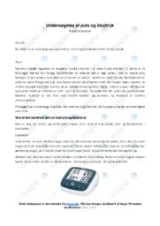 Undersøgelse af puls og blodtryk   Biologirapport