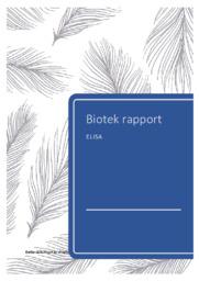 ELISA-test   Bioteknologirapport   10 i karakter