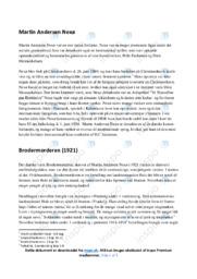 Brodermorderen   Analyse   Martin Andersen Nexø