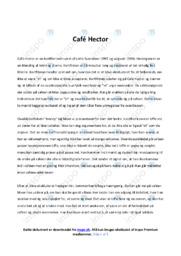 Café Hector | Analyse | Lotte Svendsen | 10 i Karakter