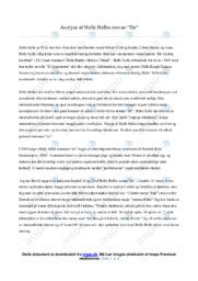 De | Analyse | Helle Helle | 10 i Karakter