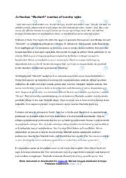 Macbeth | Analyse | Jo Nesbøs | 10 i Karakter