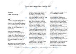 Træningsafhængighed | Dansk Essay | 10 i Karakter