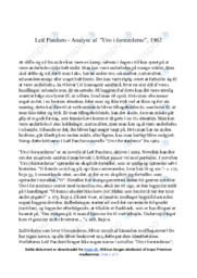Uro i forstæderne   Analyse   Leif Panduro   10 i Karakter