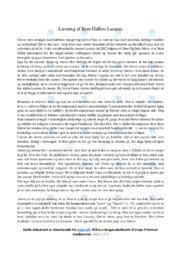 Læsning   Analyse   Bent Hallers Lazarus   12 i Karakter