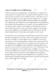 Frøkenen | Noter Analyse | Herman Bang