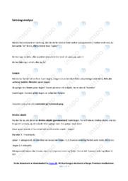 Sætningsanalyse   Noter Dansk