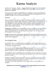 'Karma' | Analysis | 10 i karakter