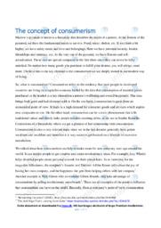 The concept of consumerism | Essay | 10 i karakter