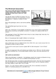 The Windrush Generation | Noter til engelsk