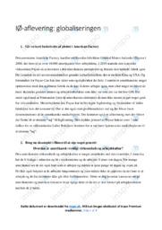 GLobaliseringen | IØ opgave | 10 i karakter