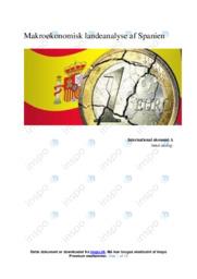 Makroøkonomisk landeanalyse af Spanien | IØ opgave