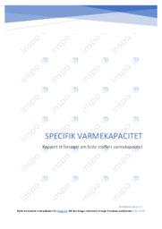 Specifik varmekapacitet | Kemirapport | 10 i karakter