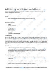 Addition og substitution med dibrom | Kemi noter