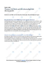 DDR-Staat | Opgave | 12 i karakter