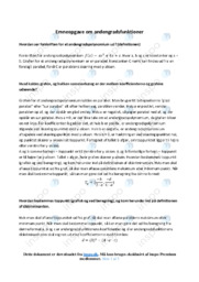 Emneopgave om andengradsfunktioner | Noter