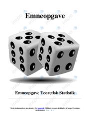 Teoretisk Statistik | Emneopgave | 12 i karakter