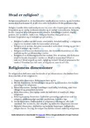 Hvad er religion | Over 10 siders noter