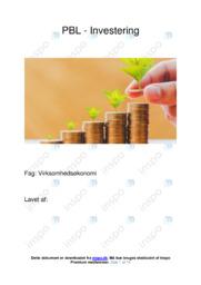 PBL Investering | VØ opgave | 10 i karakter