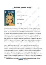 Plastic   Analyse   Mette Thomsen   10 i Karakter
