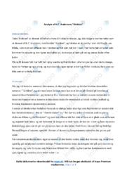 Klokken | Analyse | H.C. Andersens | 10 i Karakter