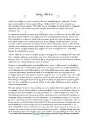 Jønke   mit liv   Noter Analyse   Jørn Nielsen