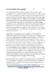 Samfundssind eller egotrip | Dansk Essay