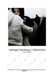 Anbragte børnunge i kriminalitet   Dansk Essay   10 i Karakter