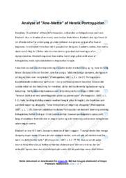 Ane-Mette | Analyse | 10 i karakter