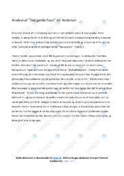 Det gamle huus | Analyse | HC Andersen | 10 i Karakter