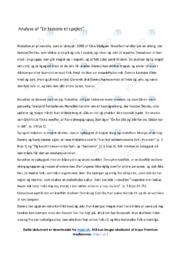 'En historie til spejlet' | Analyse | Noter til dansk
