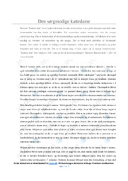 Kattens død | Noter Analyse | Anne Bredahl