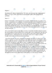 Det danske chartermarked | Noter til afsætning