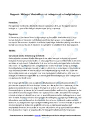 Blodsukker ved indtagelse af fødevare   Biologirapport