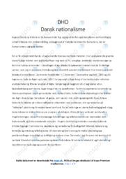 Dansk nationalisme | DHO noter