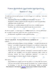 Platons Hulebillede | DHO | Noter