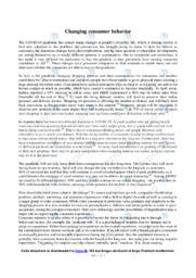 Changing consumer behavior   Essay   10 i karakter