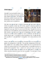 Child labour | Essay | Engelsk noter