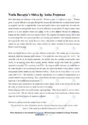 'Neela Bavaria's Shiva' | Analytical essay | 12 i karakter