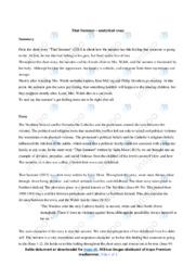 'That Summer'   Analytical essay   12 i karakter