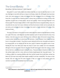 'The Great Gatsby' | Analytical essay | 12 i karakter