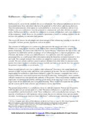 Kidfluencers – Argumentative essay   10 i karakter