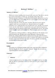 'Old boys' | Analytical essay | 10 i karakter