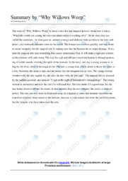 Why Willows Weep   Summary   10 i karakter